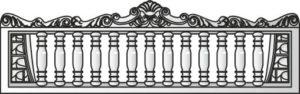 Декоративный забор панель-5