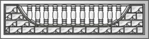 декоративный забор панель-2