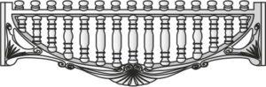 Декоративный забор панель-8