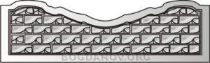 Декоративный забор панель-9