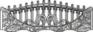 Бетонный забор панель 146