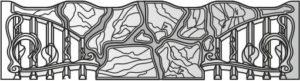 Бетонный забор панель 145