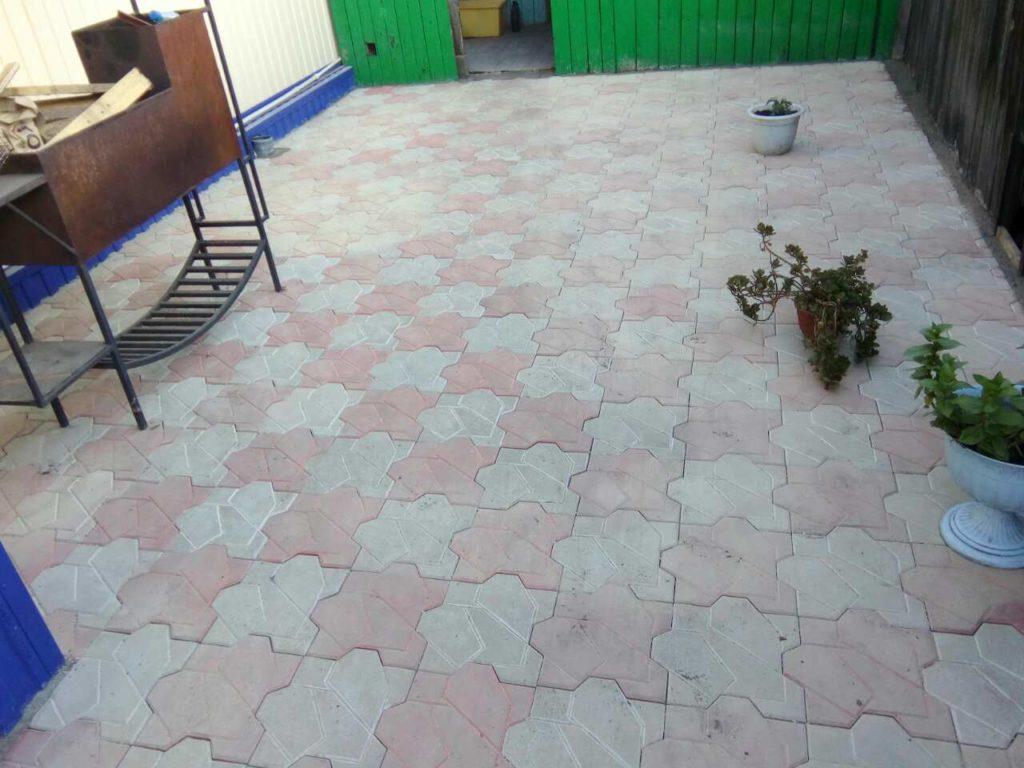 Тротуарная плитка Пикасо монтаж